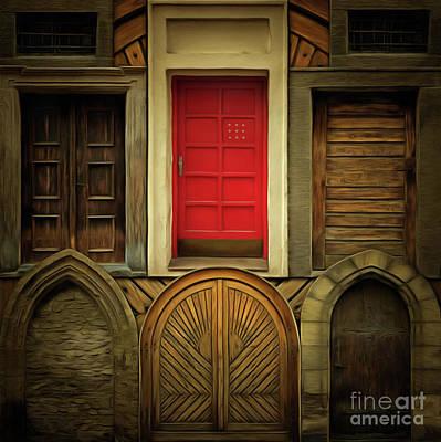 Incision Digital Art - Old Doors by Michal Boubin