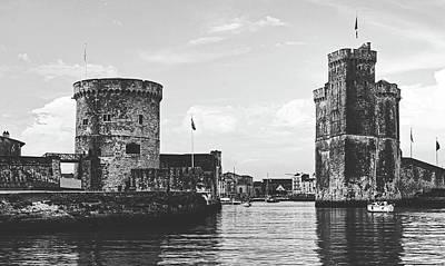 Photograph - Old Harbor Entrance - La Rochelle, France by Jebulon