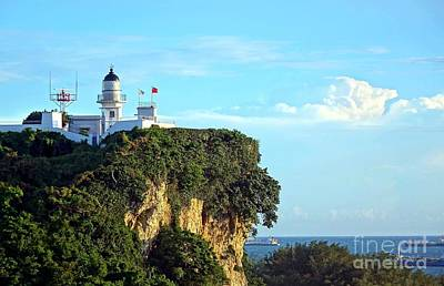 Photograph - Old Lighthouse Overlooking Kaohsiung Harbor by Yali Shi