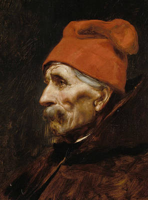 Painting - Old Man Wearing A Red Fez by Nikolaos Gyzis