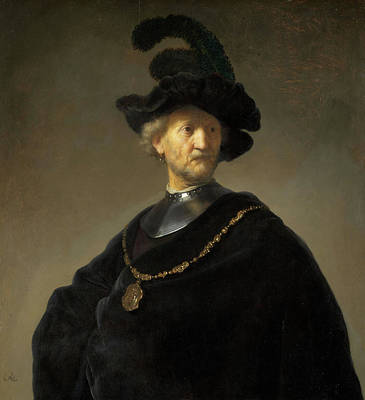 Netherlands Painting - Old Man With A Gold Chain by Rembrandt van Rijn