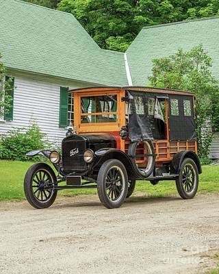 Photograph - Old Model T Ford In Front Of House by Edward Fielding