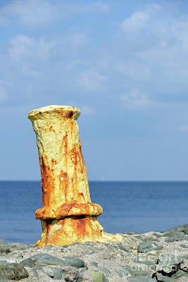 Summertime Photograph - Old Mooring Bollard  by George Atsametakis