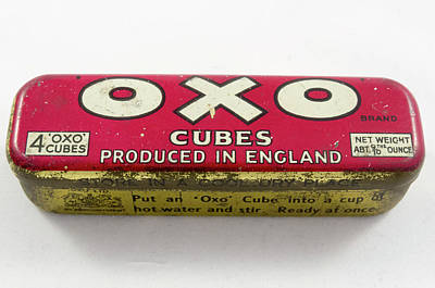 Liebigs Meat Extract Photograph - Old Oxo Bullion Cube Container 3 by Bob Corson