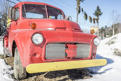 Photograph - Old Red Farm Truck by Edward Fielding
