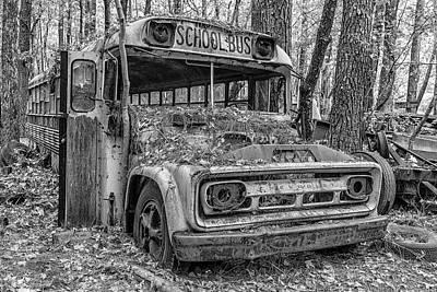 Old School Bus Art Print