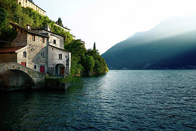 Photograph - Old Stone Bridge At The End Of Nesso's Ravine, Como by Alfio Finocchiaro