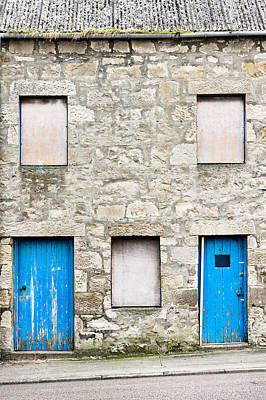 Boarded Up Photograph - Old Stone House by Tom Gowanlock