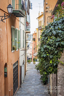 Small French Village Photograph - Old Street In Villefranche-sur-mer by Elena Elisseeva