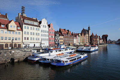Old Town Of Gdansk In Poland Print by Artur Bogacki