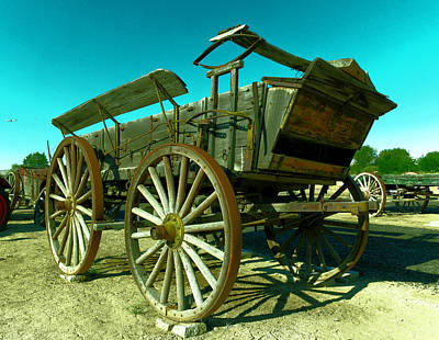 Old Wagon Art Print by Jeff Swan