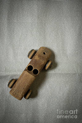 Little People Photograph - Old Wooden Toy Car by Edward Fielding