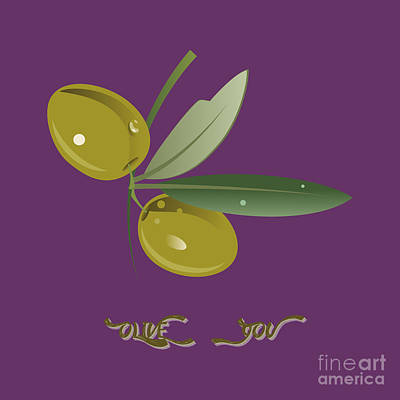 Painting - Olive You by Celestial Images