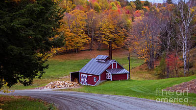 Photograph - On The Back Roads Of Reading Vermont by Scenic Vermont Photography
