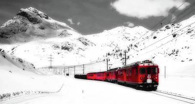 Photograph - On The Bernina Line - Switzerland by Kabelleger And David Gubler
