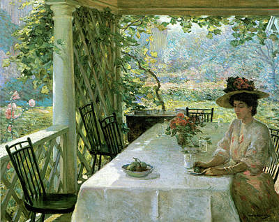 Photograph - On The Porch by William Chadwick