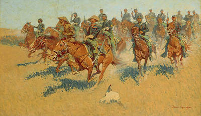 Southern Art Painting - On The Southern Plains by Frederic Remington