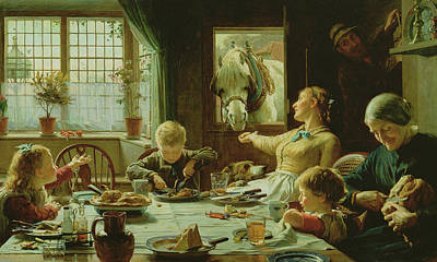 Kitchen Window Painting - One Of The Family by Frederick George Cotman