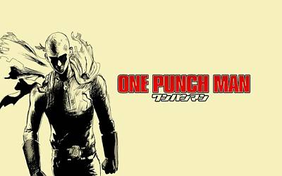 Graphic Digital Art - One-punch Man by Maye Loeser