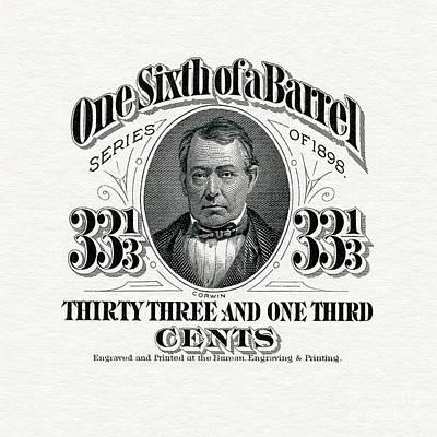 One Sixth Beer Barrel Tax Stamp Art Print