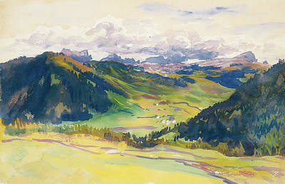 Beautiful Vistas Painting - Open Valley - Dolomites by Mountain Dreams