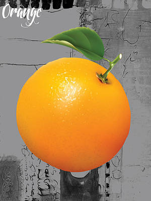 Fruit Mixed Media - Orange Collection by Marvin Blaine