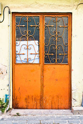 Orange Door Art Print by Tom Gowanlock