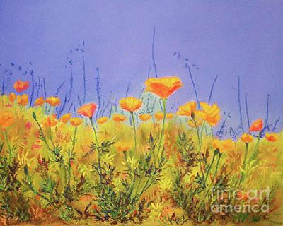 Painting - Orange Poppies by Anne Marie Brown