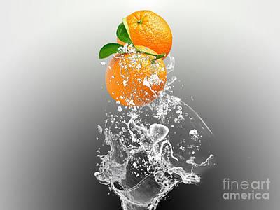 Home Mixed Media - Orange Splash by Marvin Blaine