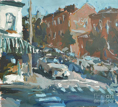 Art Print featuring the painting Original Contemporary Urban Painting Featuring Richmond Virginia by Robert Joyner