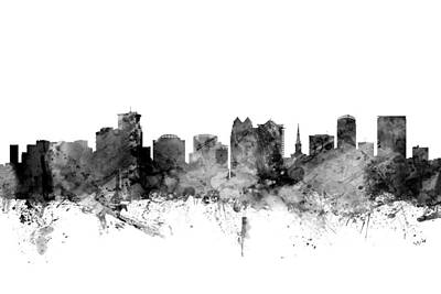 Florida Digital Art - Orlando Florida Skyline by Michael Tompsett