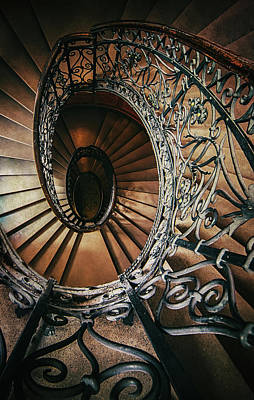 Art Print featuring the photograph Ornamented Spiral Staircase by Jaroslaw Blaminsky