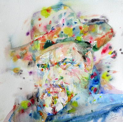 Painting - Orson Welles - Watercolor Portrait by Fabrizio Cassetta