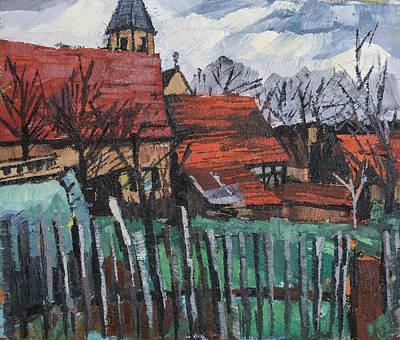 Painting - Ortsansicht Lienzingen  by Martin Stankewitz