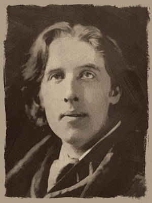 Oscar Painting - Oscar Wilde 1 by Afterdarkness