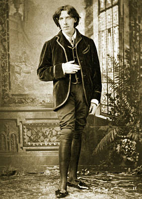 Black Jacket Photograph - Oscar Wilde by Napoleon Sarony