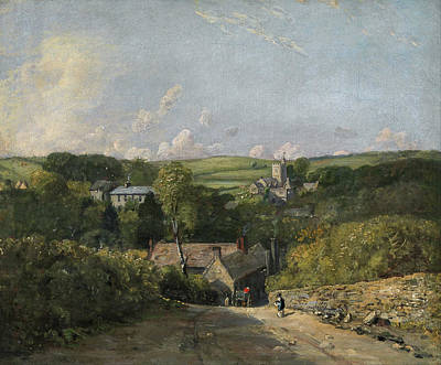 Outlook Painting - Osmington Village by John Constable