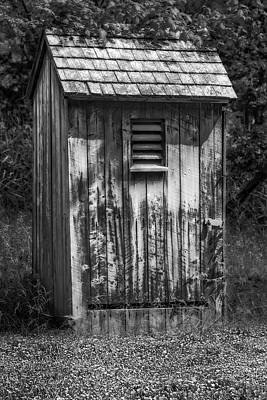 Outhouse Shack Print by Susan Candelario