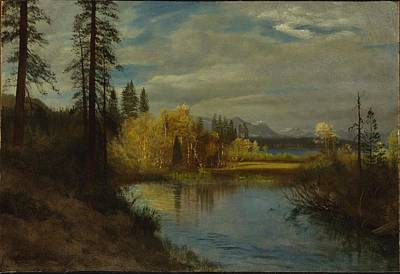 Painting - Outlet At Lake Tahoe by Albert Bierstadt