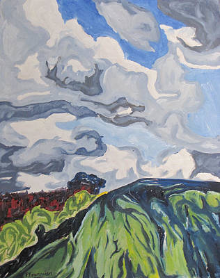 Eastern Townships Painting - Over The Hill by Francois Fournier