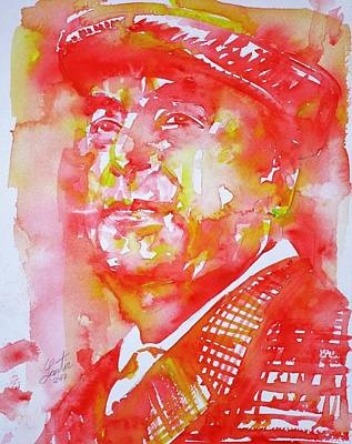 Painting - Pablo Neruda - Watercolor Portrait.8 by Fabrizio Cassetta