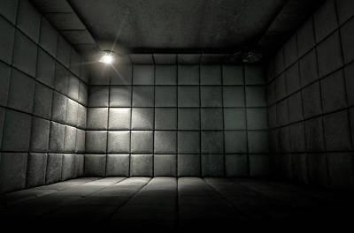 Haunted Digital Art - Padded Cell Dirty Spotlight by Allan Swart
