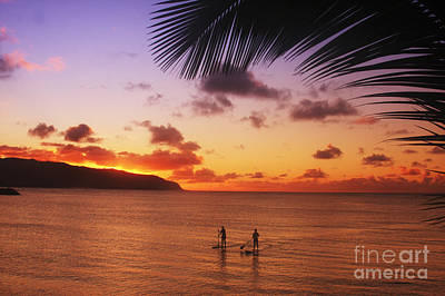 Paddlers At Sunset Art Print by Vince Cavataio - Printscapes