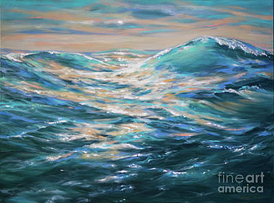 Painting - Paddling Out by Linda Olsen