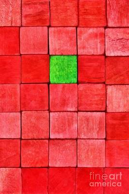 Still-life Painting - Painting Of Handicraft Cubes by George Atsametakis