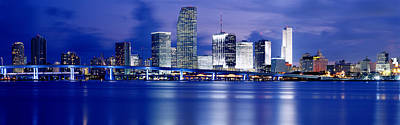 Florida Bridge Photograph - Panoramic View Of An Urban Skyline At by Panoramic Images