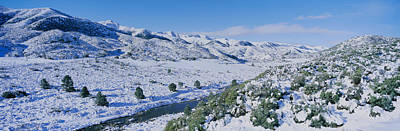 Western Snowfall Photograph - Panoramic View Of Winter Snow by Panoramic Images
