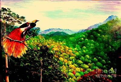 Mangrove Forest Painting - Paradise Bird Of Papua by Jason Sentuf