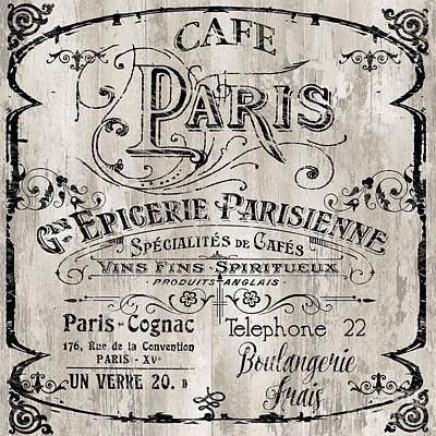 Paris Bistro  Print by Mindy Sommers