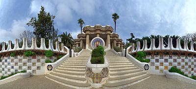 Gaudi Photograph - Park Guell By Architect Antoni Gaudi by Panoramic Images